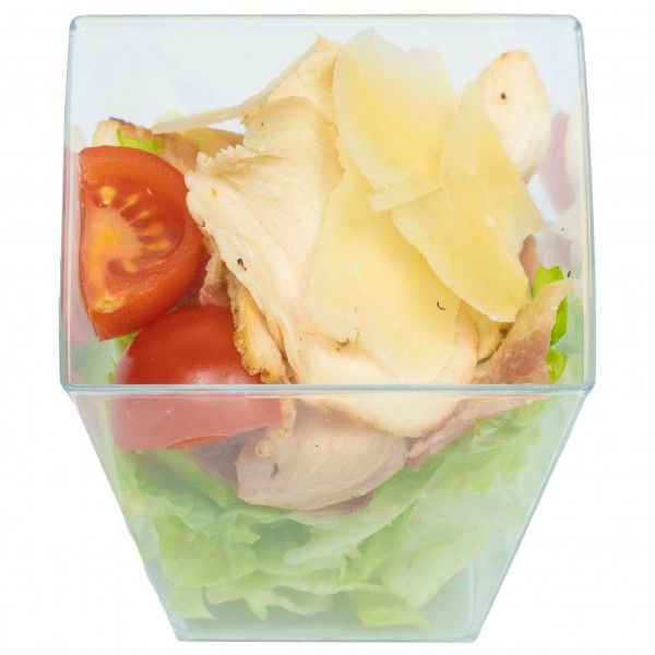 Салат цезарь в мини стаканчике