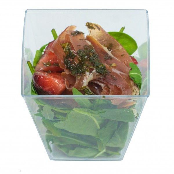 Салат с пармой в мини стаканчике