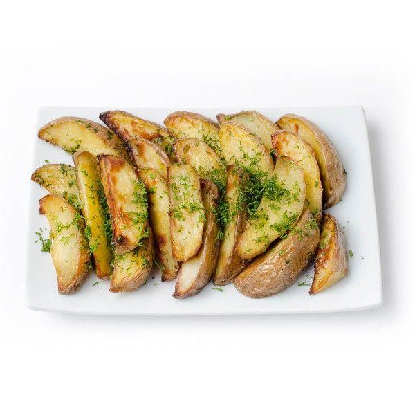Картофель запечёный с чесночком и зеленью