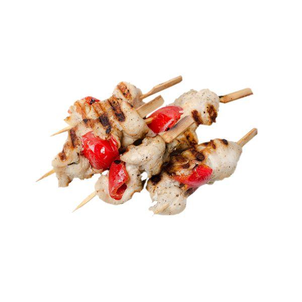 Мини шашлычок с курицей и болгарским перцем